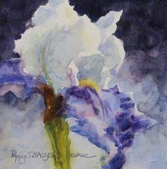 "Iris Study, 6x6"", watercolour on PANEL (this is new!)"