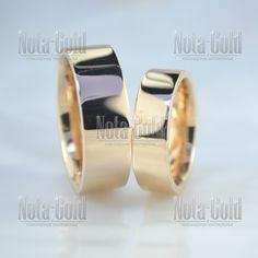 Плоские парные обручальные кольца из золота с широким классическим профилем  (Вес пары  14 гр f0d8bfc124f