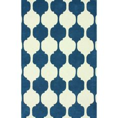 nuLOOM Handmade Modern Chess Trellis Blue Rug (7'6 x 9'6) | Overstock.com Shopping - Great Deals on Nuloom 7x9 - 10x14 Rugs