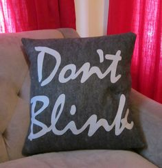 The Angels Have the Phonebox, Doctor Who Inspired Pillow. $30.00, via Etsy.