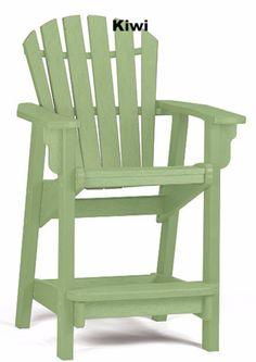 Breezesta Coastal Counter Chair Solid Colors