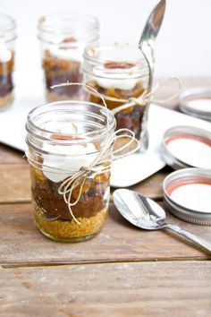 Healthier Chocolate Pecan Pie in a Jar via @Kylie Knapp @ immaeatthat