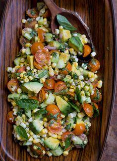 Fresh Corn, Tomato,