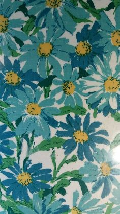 2 Vintage Teal Crazy Daisy Placemats