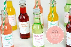 This is such a cute idea! Customize soda bottles for your next birthday party, bachelorette party, or wedding! #DIY #summer