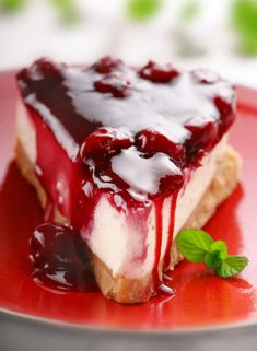 An easy non-bake cheesecake that your family will love. Cherry Cheesecake Recipe from Grandmothers Kitchen. Brownie Desserts, Just Desserts, Delicious Desserts, Yummy Food, Sugar Free Desserts, Sugar Free Recipes, Flour Recipes, Cheesecake Recipes, Dessert Recipes