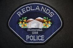Redlands Police Patch, San Bernardino County, California (Current 2004 Issue)