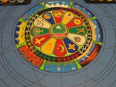 tibetan mandala designs | tibetan-monks-sand-mandala-center-detail-day-two-photo-linda-wiggen ...