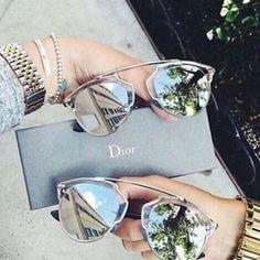 Oculos de Sol Lentes Espelhada Prata