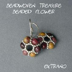 TUTORIAL  Beadwoven Treasure  Beaded Flower and FREE by Extrano, $5.00