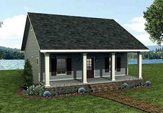 #Cottage House Plan W2596DH | #ArchitecturalSesigns.com | Artist's rendering