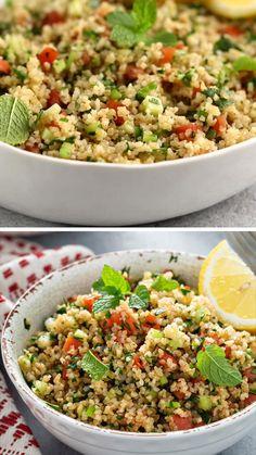Vegetarian Salad Recipes, Best Salad Recipes, Easy Pasta Recipes, Vegan Recipes, Cooking Recipes, Tabbouleh Recipe, Bulgur Salad, Bulgar Wheat Salad, Couscous Salad Recipes