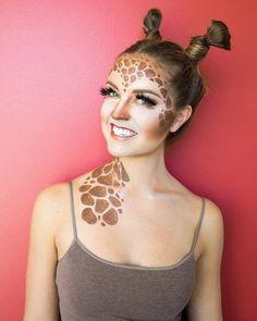 Giraffe das gruseligste Halloween Make-up sieht auf Pho Looks Halloween, Scary Halloween, Halloween Face Makeup, Animal Halloween Costumes, Halloween Ideas, Halloween Fashion, Halloween Stuff, Pho, Giraffe Costume