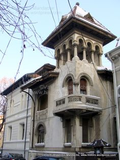 Neo-Romanian Style Occurred Between Mid and Mid Revival Architecture, Art Nouveau Architecture, Islamic Architecture, Architecture Details, Beautiful Castles, Beautiful Buildings, Beautiful Homes, Bucharest Romania, Fantasy Castle