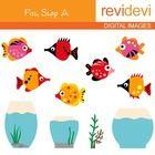 Clip art Fish Shop A 07109 (fish and aquarium clipart).  Clipart set for teachers and educators. Great resource for any school and classroom projec...