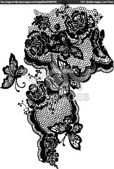 lace and flower tattoo | Comrz 1210x121002f4butterfly And Rose Lace Design 2f40b6jpg