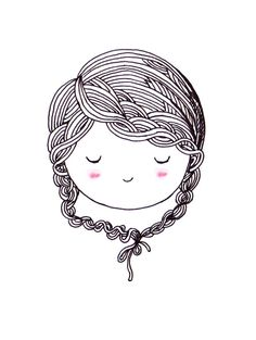 Fantasting Drawing Hairstyles For Characters Ideas. Amazing Drawing Hairstyles For Characters Ideas. Illustration Art Dessin, People Illustration, Love Illustration, Doodle People, Art Mignon, Arte Country, Buch Design, Line Drawing, Drawing Hair