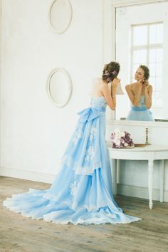 Cheap dress up party supplies, Buy Quality dress formal dress directly from China dress leaf Suppliers: High Quality Strapless A-line Evening Party Dress Sleeveless Romantic Bow Applique Tiered Sweep Train Formal Dresses NM 461 Blue Wedding Dresses, Prom Dresses, Quinceanera Dresses, Formal Dresses, Beautiful Gowns, Beautiful Outfits, Elegant Dresses, Pretty Dresses, Lace Dress