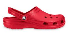 No time to wait on shipping? Pick up Crocs Adult Original Classic Clogs today with DICK'S Free Contactless Curbside Pickup! Red Crocs, Crocs Shoes, Women's Shoes, Clogs, Crocs Classic, Thing 1, Shoe Company, Unisex, Slippers