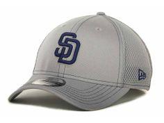 San Diego Padres New Era MLB Gray Neo 39THIRTY Cap Hats