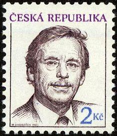 Stamp: Václav Havel (1936-2011), president (Czech Republic) (Definitive Issues - President Václav Havel) Mi:CZ 3,Sn:CZ 2879,Yt:CZ 3,Sg:CZ 3,AFA:CZ 3,POF:CZ 3 Bosnia And Herzegovina, Stamp Collecting, Czech Republic, Postage Stamps, Art Projects, Presidents, European Countries, Ephemera, Celebrity