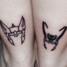 "My new Thor and Loki tattoos! Thor represents my ""sister"" and I'm Loki"