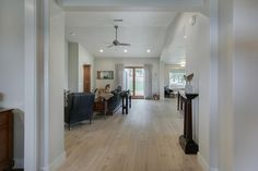 The entry as you look into the great room. Custom home designed and built by Quail Homes of Vancouver Washington.