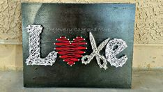 For the LOVE of cosmetology Cosmetology string art by CageDesigns
