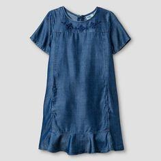 Girls' Chambray Dress Blue L - Genuine Kids from Oshkosh™ : Target