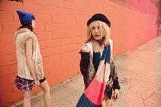 FW14 #Todomoda #BrooklynWinter ▶ Models: Paige Reifler, New York Models; Léticia Orchanheski, ONE Models Management.