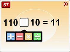 """""""What's your sign?"""" es un juego de matemáticas en el que hay que pensar el signo correspondiente a una operación u operaciones combinadas dadas, con tiempo limitado y con dificultad creciente."""