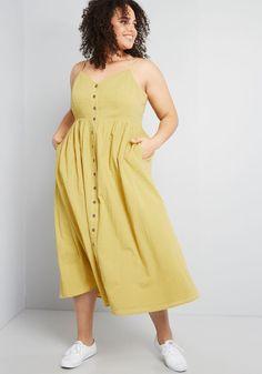 Plus Size Spring Dresses, Plus Size Skirts, Plus Size Outfits, Summer Dresses, Midi Dress Plus Size, Curvy Outfits, Beach Dresses, Dresser, Yellow Midi Dress