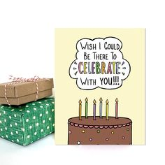 Celebrate With You, Happy Birthday Card - NEW Friends Birthday Cake, Happy Birthday Cards, Long Distance Birthday, Papers Co, Brown Bags, Cute Stickers, Paper Goods, Are You Happy, Card Stock