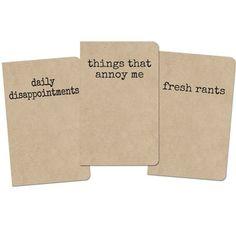 Grump Notebooks - 3 Pack