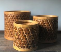 Vintage bamboo wicker houseplant basket set of three Rattan Planters, Butterfly Wall, Christmas Desserts, Skin Treatments, Houseplants, Indoor Plants, Wicker, Baskets, Bamboo