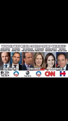 America's liberal news media: ABC - CBS - NBC - CNN. MSNBC Liberal propaganda. Since their existence, up to now 2016 and moving forward with their liberal agenda.