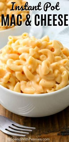 Instant Pot Mac and Cheese takes all of the creamy goodness of homemade mac and cheese and turns it into a meal you can have on the table in minutes! #spendwithpennies #instantpot #mac&cheese #easyrecipe #kidfriendlyrecipe