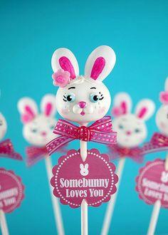 Somebunny Loves You Cake Pops for Easter Cake Pops, Easter Bunny Cake, Easter Party, Easter Treats, Easter Deserts, Bunny Cakes, Design Seeds, Teal Party, Somebunny Loves You