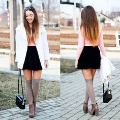 #fashion #style #street #clothes #outfit #outfits #fall #ootd Street Clothes, Skater Skirt, Ootd, Fall, Skirts, Outfits, Instagram, Style, Fashion