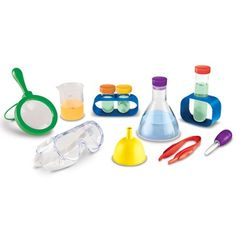 Primary Science Lab Set - Beakers and Labware items meant for the little hands of budding scientists - too cute!