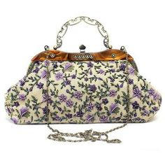 Floral Embroidery Vintage Clutch Bag ($39) ❤ liked on Polyvore featuring bags, handbags, clutches, floral clutches, vintage handbags, floral print purse, embroidery handbags and vintage floral purse