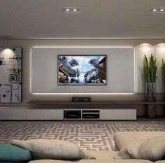 Most Trending Sectional Tv Room Decoration Ideas - Diaror Diary - Page 54 ♥ 𝕴𝖋 𝖀 𝕷𝖎𝖐𝖊, 𝕱𝖔𝖑𝖑𝖔𝖜 𝖀𝖘!♥ ♥ ♥ ♥ ♥ ♥ ♥ ♥ ♥ ♥ ♥♥♥ Hope this cozy tv room decoration ideas inspire you! Living Room Decor Tv, Living Room Tv Unit Designs, Tv Wall Decor, Wall Tv, Tv Cabinet Design, Tv Wall Design, Cozy Family Rooms, Luxurious Bedrooms, Living Room Modern