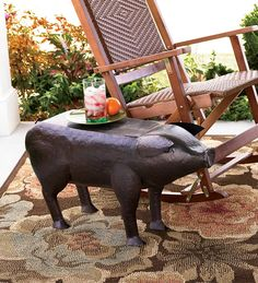 I just ordered this for my front porch! Thought it was the perfect addition to the chairs out there.