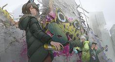 Macross Anime, Character Art, Character Design, Cyberpunk City, Anime Kunst, Anime Artwork, Manga Games, Ms Gs, Anime Style