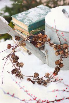 larch tree twig wreath