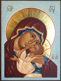 Religious Images, Religious Icons, Religious Art, Blessed Mother Mary, Byzantine Icons, Orthodox Christianity, Madonna And Child, Orthodox Icons, I Icon
