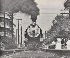 In 1966, Southern #4501 sits near the 3rd Street overpass in Louisville ready to haul an excursion to Danville, KY.