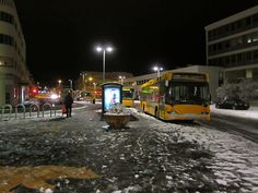 The yellow polarbear. Hlemmur - the main bus station in Reykjavik, Iceland.