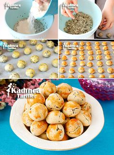 Çörek Otlu Tuzlu Mini Kurabiye Tarifi