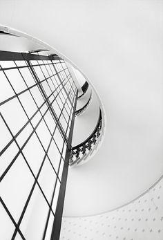 Black & White Photography Inspiration : Stairway-Shaft